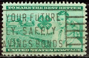 USA; 1952: Sc. # 1005: O/Used Cpl. Set