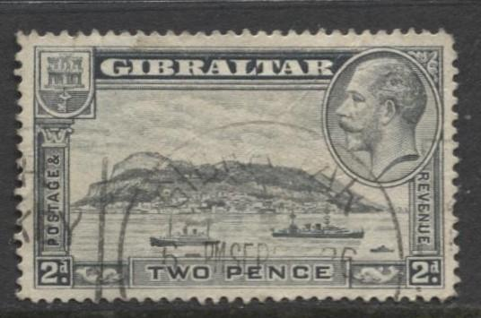 Gibraltar - Scott 98 - KGV Pictorials -1931- FU - Wmk 4 - Single 2p Stamp