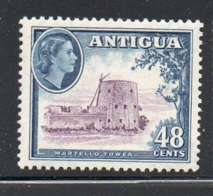 Antigua Sc 117 1953 48c QE II & Martello Tower stamp mint