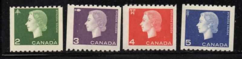 Canada Sc 406-9 1963 QE II Cameo issue coil stamp set mint NH