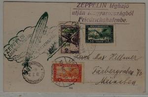 Hungary/Germany Zeppelin card 29.3.31