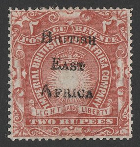 BRITISH EAST AFRICA 1895 BEA overprint Light & Liberty 2R. Only 520 printed.