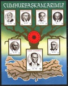 Turkey. 1987. bl25. Presidents of Turkey, Ataturk. MNH.