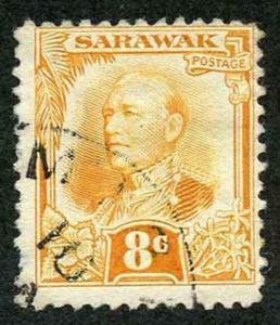 Sarawak SG97 1932 8c orange-yellow Fine used