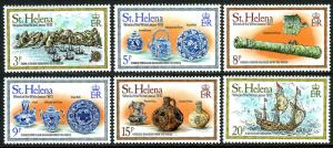 St. Helena MNH 318-23 Ship Wreck & Treasures Captain Cook 1978