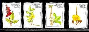 #8495 GUINEA-BISSAU 1994 MEDICAL FLORA  FLOWERS COMPLET SET YV 644-7 MNH