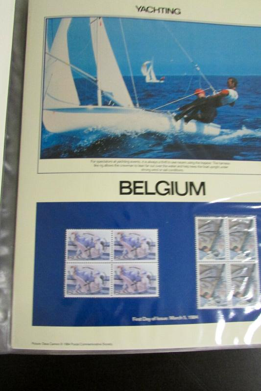 World 1984 Olympic Games Philatelic Stamp Panels Collection