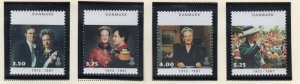 Denmark Sc 1063-66 1997 25th Anniversary Coronation stamp set mint NH