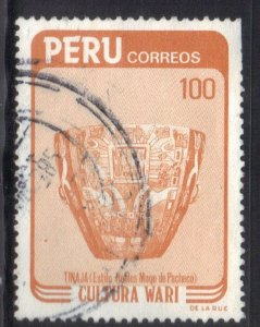 PERU SC# 809  *USED* 100s  1984  POTTERY    SEE SCAN