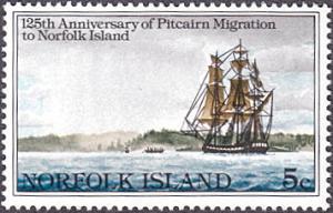 Norfolk Island # 277 mnh ~ 5¢ Migration to Norfolk Island, Ship