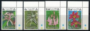 Anguilla #754-7* NH  CV $6.50  Easter 1988 Flowers
