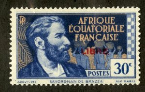 FRENCH EQUATORIAL AFRICA 92 MH SCV $16.00 BIN $7.00 PERSON