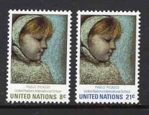 United Nations  New York  #224-225  1971  MNH  Maia Pablo Picasso