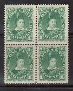 Newfoundland #44a VF Mint Block