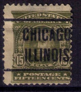 US SCOTT #309 CHICAGO,ILLINOIS PRECANCEL FINE