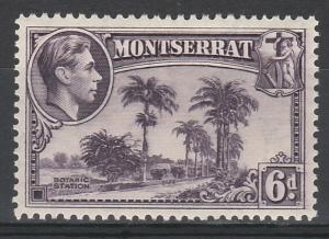 MONTSERRAT 1938 KGVI PICTORIAL 6D PERF 13