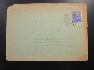 Germany 1949 Cover to USA w/ 50pf Ultra / Small Side Tear - Z6548