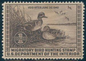 US Scott #RW6 Mint, XF, NH