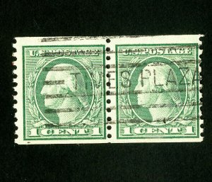 US Stamps # 452 F-VF Used pair Scott Value $55.00