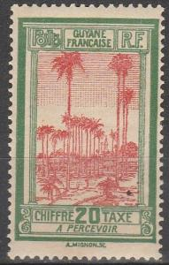 French Guiana #J15 F-VF Unused  (V4109)
