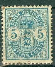 Danish West Indies - 22 Used