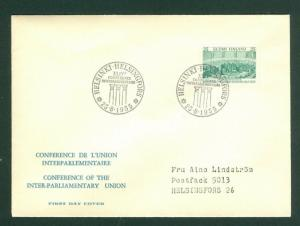 Finland. FDC 1955. Conference Inter-Parliamentary Union . Scott # 329. Address