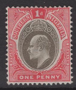 SOUTHERN NIGERIA SG22 1904 1d GREY-BLACK & CARMINE MTD MINT