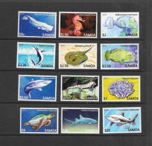 FISH - SAMOA #1167-1178  MNH