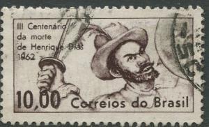 Brazil - Scott 939 - Hendrique Dias - 1962 - Used- Single 10cr Stamp