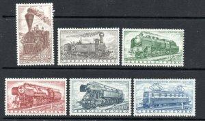 Czechoslovakia - Sc# 770 - 775 MH  / Trains     -     Lot 0920028
