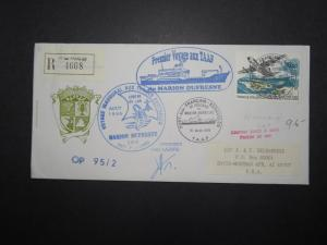 France TAAF 1995 Antarctic Cover / Signed / Multi Cachet - Z11135