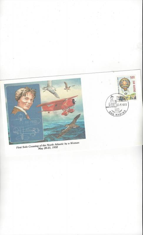 San Marino  Fleetwood Cachet of Man's Conquest of the Heavens 1983 FDC