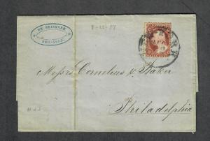US Sc#25 NY CDS Merchants Stamp Aug 22 1857-Contents