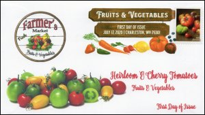 20-161, 2020, SC 5485, Fruits & Vegetables, FDC, Digital Color Postmark,