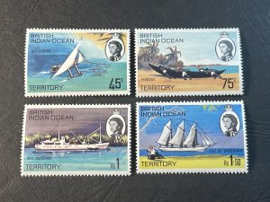 BR.INDIAN OCEAN TERRITORY # 35-38--MINT NEVER/HINGED----COMPLETE SET----1969