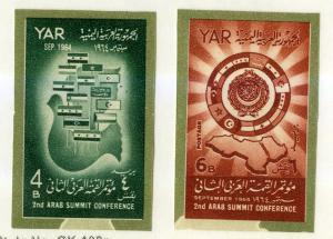YEMEN 205-206 MH IMPERF SCV $3.00 BIN $1.50 FLAGS
