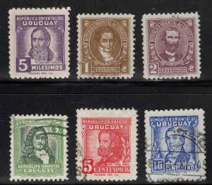 Uruguay Scott 538-543 Mixed mint and used short set