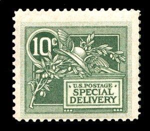 US STAMPS #E7, 10c GREEN SPECIAL DELIVERY. F/VF. MNH/OG