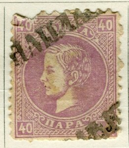SERBIA; 1869 early classic portrait issue used 40pa. value