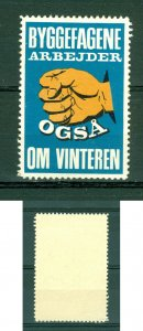 Denmark. Poster Stamp Mnh. The Building Trades Also Work In Winter Hand.