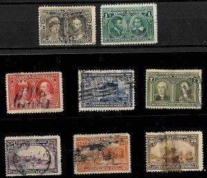 Canada #96 to 103 Used set C$1021.00 Quebec Tercentenary Issue