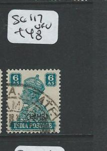 INDIA CHAMBA (P0804B) KGVI  6A  SG117   VFU