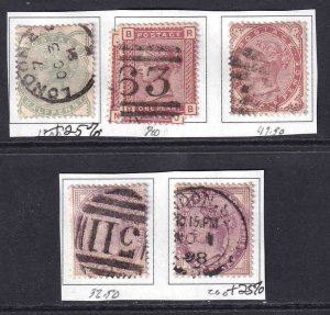 GREAT BRITAIN SC 78//89 COLLECTION LOT $137 SCV SOME PREMIUM CANCELS