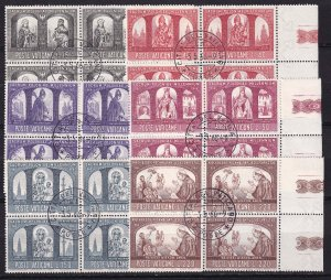 1966 - VATICAN - Scott #433-438 - First Day Cancels - Block Used