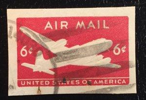 UC18 Used Airmail Cutout 6c