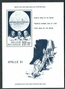 1969  BELGIUM  - SG:MS2129 - FIRST MAN ON MOON  -  UNMOUNTED MINT