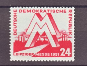 J22244 Jlstamps 1951 germany ddr part of set mnh #78 lepzig fair