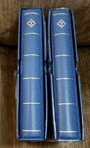 1 LIGHTHOUSE Blue Luxury 3 ring ALBUM with Case