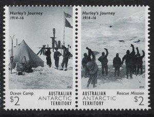 Australian Antarctic 2016 Imperial TransAntarctic Expedition 2$ (2,5) Pair MNH