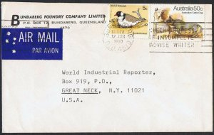 1980 50c Dogs + 5c bird on 1980 airmail cover to the USA TS783